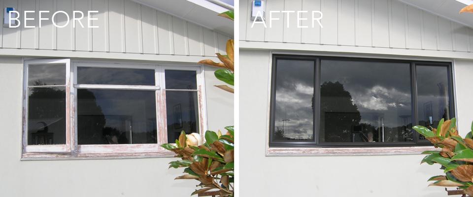 insert aluminum windows