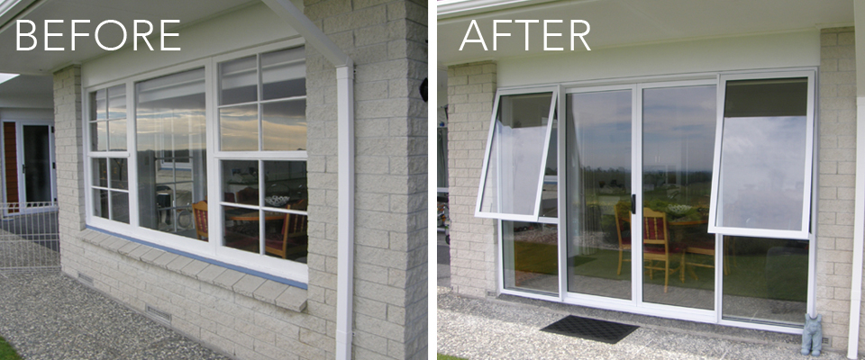 Full replacement aluminium windows and doors